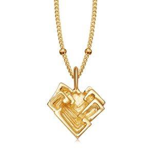 Missoma medium bismuth gold necklace